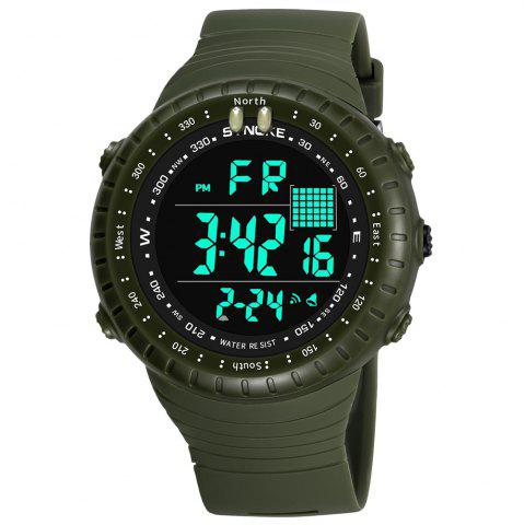 New SYNOKE 9648 Waterproof Multifunctional Outdoor Large Screen Male Electronic Watch