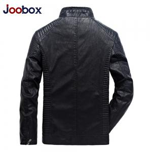 Autumn Men Plus Cashmere Leather Collar Motorcycle Suit Jacket -