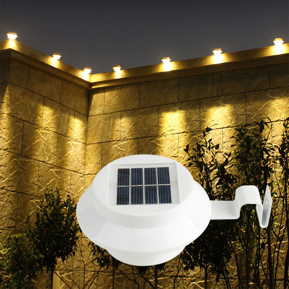 Cheap BRELONG 3LED Solar Fence Lamp Eaves Landscape Courtyard Induction Wall Lamp