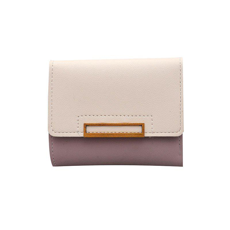 Chic New Three Fold Wallet Female Short Paragraph