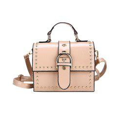 Female Rivets Wild Shoulder Portable Messenger Bag -