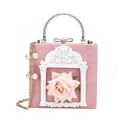Female Personality Flowers Portable Shoulder Fashion Wild Chain Messenger Bag -
