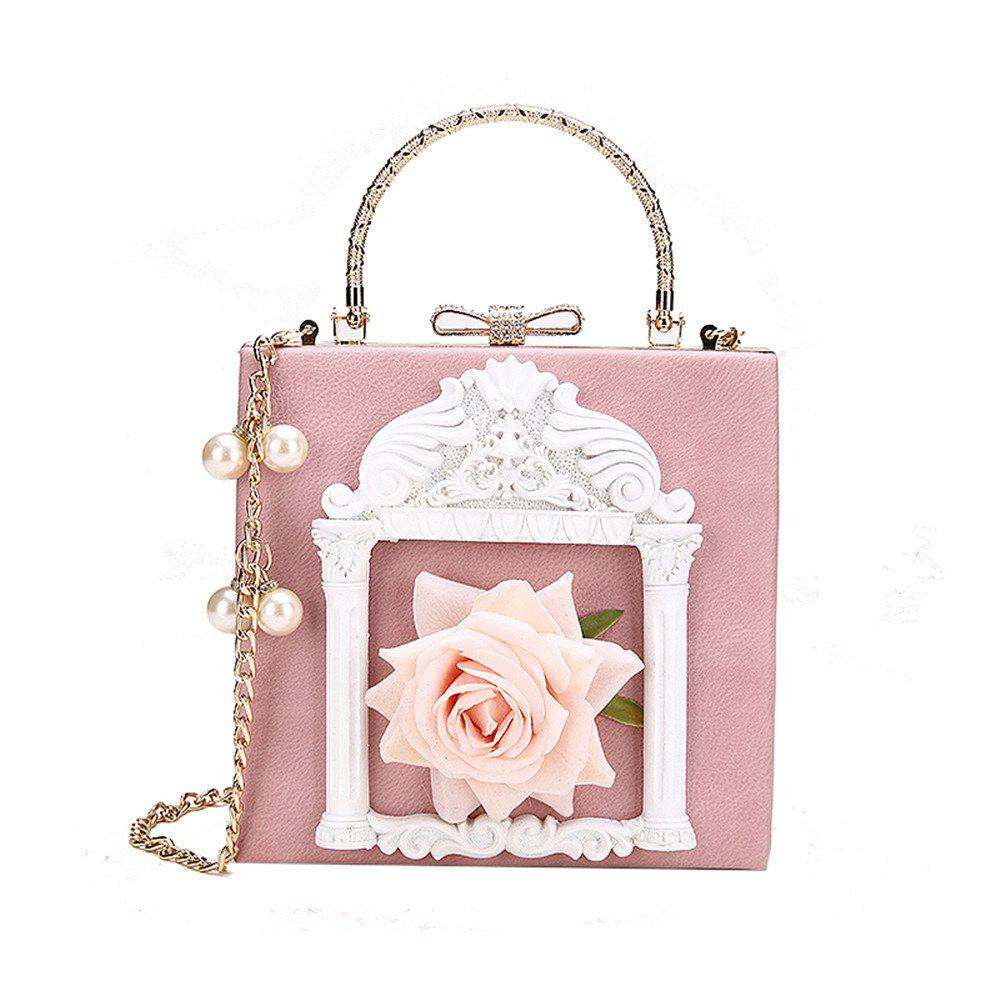 Trendy Female Personality Flowers Portable Shoulder Fashion Wild Chain Messenger Bag