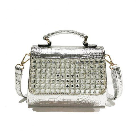 Affordable Female Fashion Simple Personality Diamond Shoulder Messenger Bag