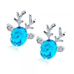 Luxurious and High-end Crystal Jewel Antler Earrings -