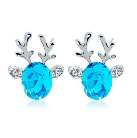 Store Luxurious and High-end Crystal Jewel Antler Earrings