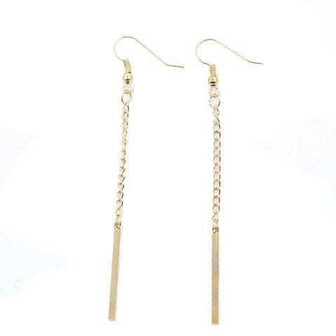 Affordable Fashion Long Style Simple with Geometric Metal Chain Earrings