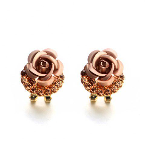 Best Fashion Korean Cute Five-Pointed Star Sweet Wild Temperament Earrings Rose Simple Stylish Earrings