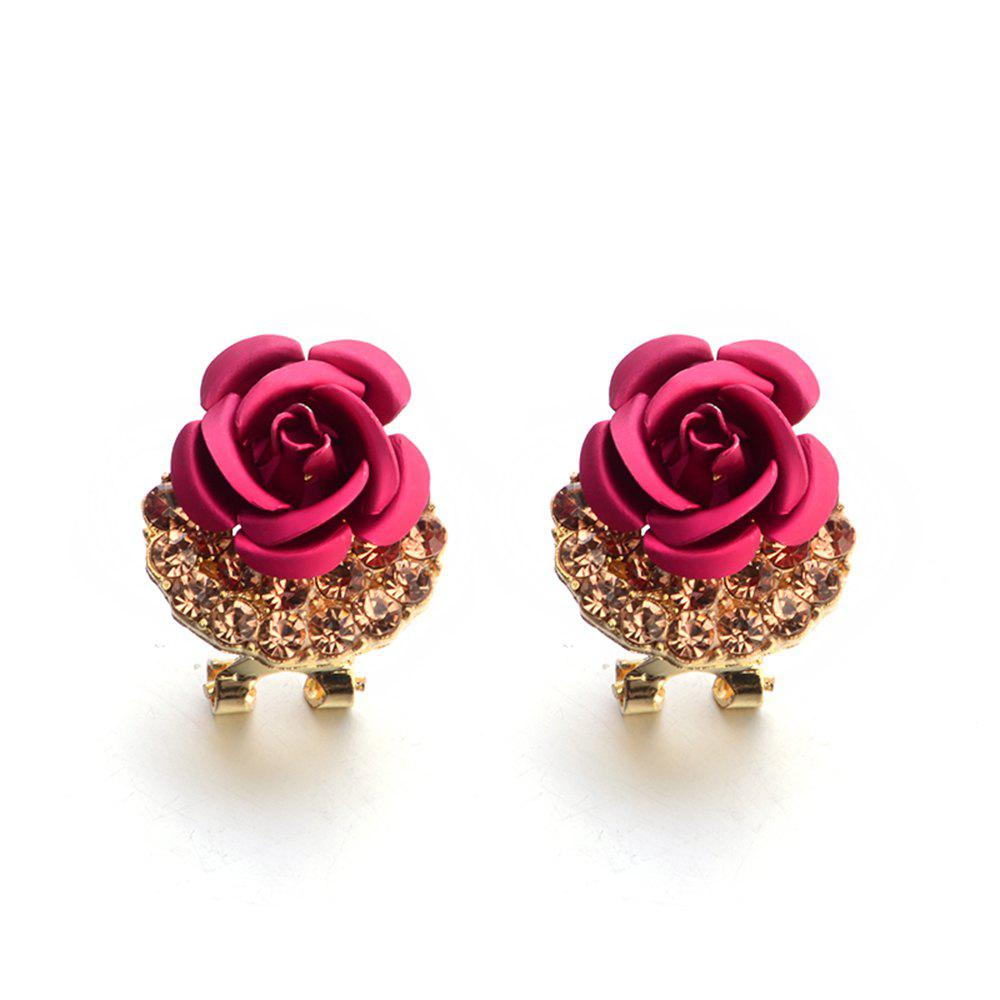 Sale Fashion Korean Cute Five-Pointed Star Sweet Wild Temperament Earrings Rose Simple Stylish Earrings