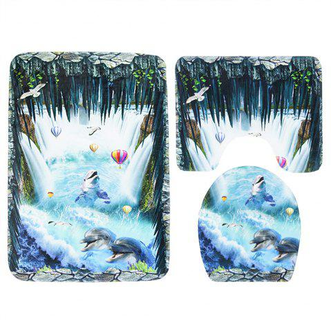 Store Three Pieces of Toilet Seat Cushion Suit for Toilet