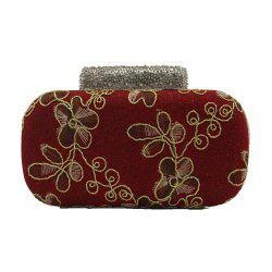 Evening Women Clutch Embroidering Wedding Bridal Handbag Lace Rose Fashion Rhinestone Bag -