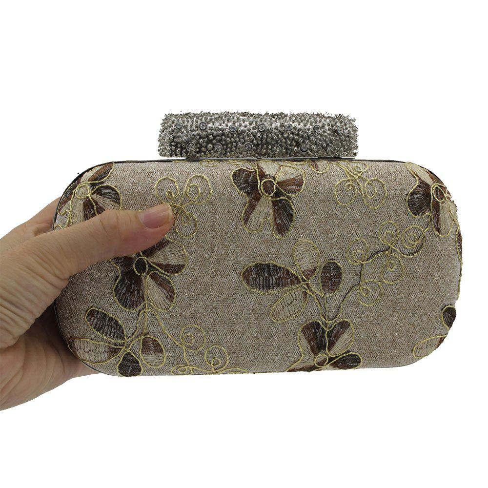 Shop Evening Women Clutch Embroidering Wedding Bridal Handbag Lace Rose Fashion Rhinestone Bag