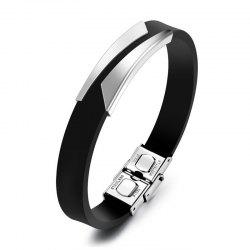 Fashion Men'S Bracelet Lettering Magnetic Clasp Bangle -