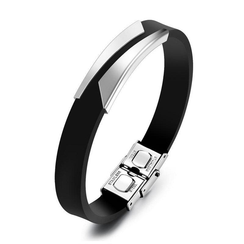 Buy Fashion Men'S Bracelet Lettering Magnetic Clasp Bangle