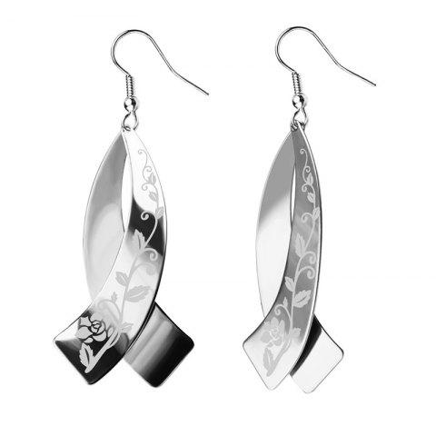 Latest Never Fade Stainless Steel Drop Earrings Jewelry Women Bridal Gift Wholesale E10145