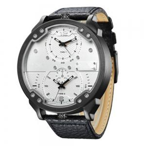 Sports Men Quartz Analog Date Leather Military Waterproof Watch -