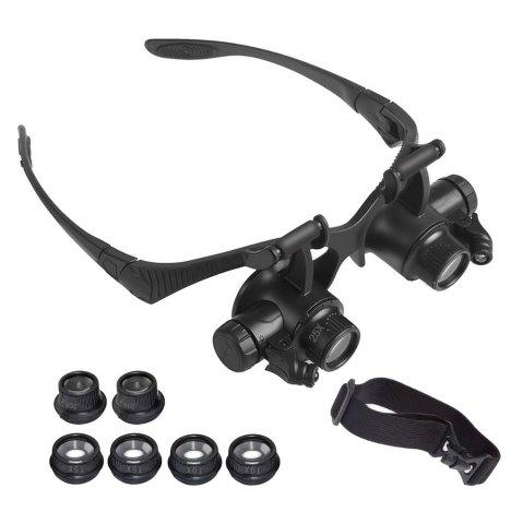 Shop YWXLight Magnifying Glasses With LED Headlamp and Interchangable Headband Jewelry 10X 15X 20X 25X