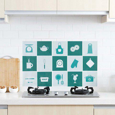 Trendy Waterproof Wall Sticker Aluminum Foil Self-adhesive Anti Oil Wallpaper Kitchen Supplies Home Decoration