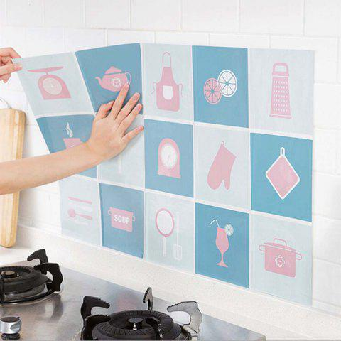 Fancy Waterproof Wall Sticker Aluminum Foil Self-adhesive Anti Oil Wallpaper Kitchen Supplies Home Decoration