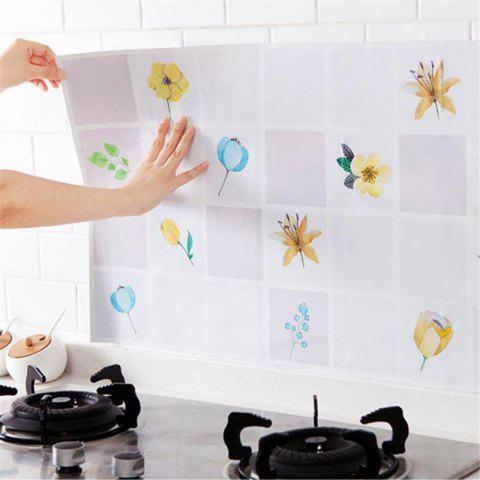 Discount Waterproof Wall Sticker Aluminum Foil Self-adhesive Anti Oil Wallpaper Kitchen Supplies Home Decoration