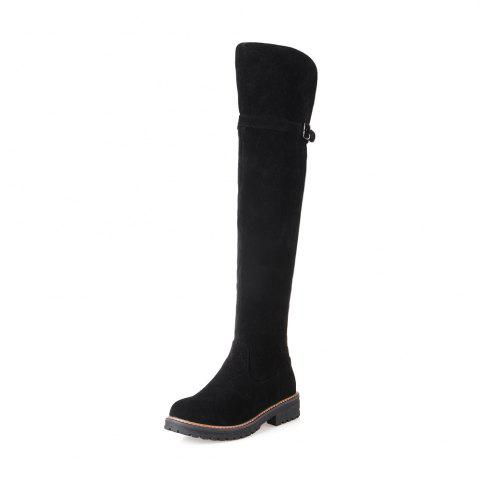 Cheap Women Shoes Round Toe Low Heel Riding Boots