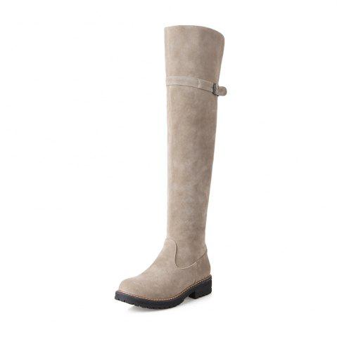 Shop Women Shoes Round Toe Low Heel Riding Boots