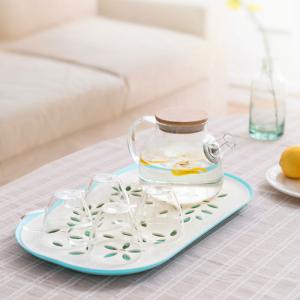 Plastic Draining Plate Double Living Room Fruit Dish Disc -
