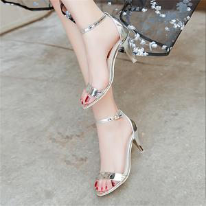 Fine with Sexy Ferret Toe Buckle Simple Sandals -
