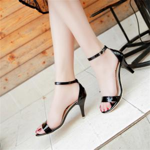 Fine avec Sexy Ferret Toe Buckle Sandales simples -