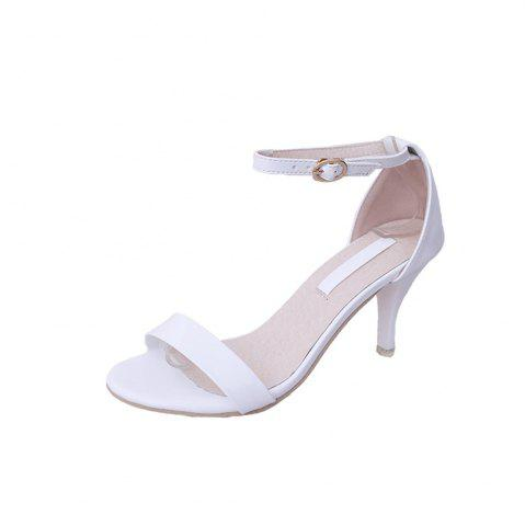 Buy Fine with Sexy Ferret Toe Buckle Simple Sandals