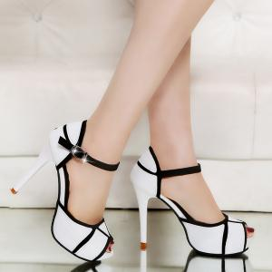 Super High Heel Waterproofing Table Buckle Fish Mouth Sandals -