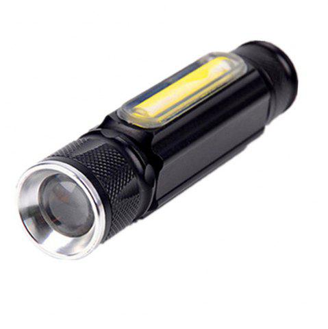 Buy HKV LED USB Flashlight 4 Modes Zoomable Tactical Flashlights XML T6 COB Magnet Torch for Outdoor Camping