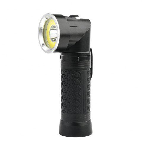 Latest HKV Powerful LED Flashlight 18650 T6+COB Fold Multifunction Torch Light for Hunting Camping Search Lamp