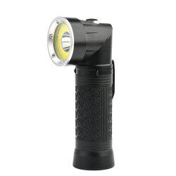 HKV Powerful LED Flashlight 18650 T6+COB Fold Multifunction Torch Light for Hunting Camping Search Lamp -