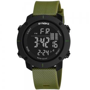 SYNOKE 9658 Outdoor Multifunction Large Dial Men Sports Electronic Watch -