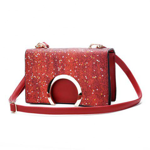 Online Diagonal Personality Sequins Chain Mini Shoulder Bag