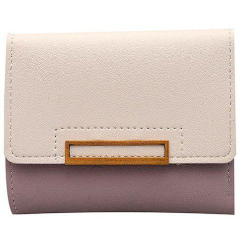 Shops Purse Female Short Paragraph Hit Color Stitching Simple Three-fold Student Small Fresh Multifunctional Wallet