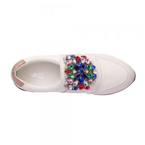 Chaussures de baskets en strass -