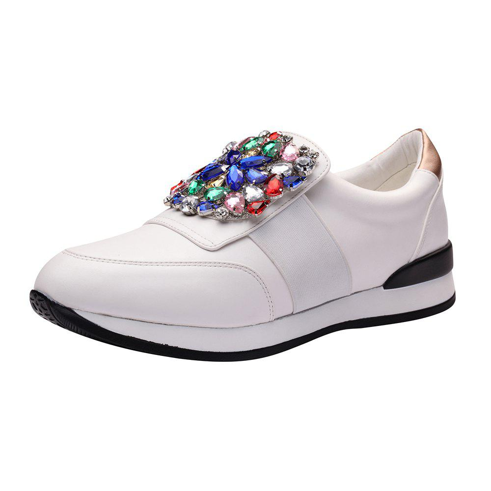 Chaussures de baskets en strass