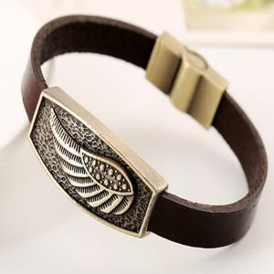 Men's Bracelet Casual Fashion PU Alloy Vintage Trendy All Match Accessory -