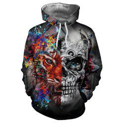 New Fashion Skull 3D Printing Men's Hoodie -