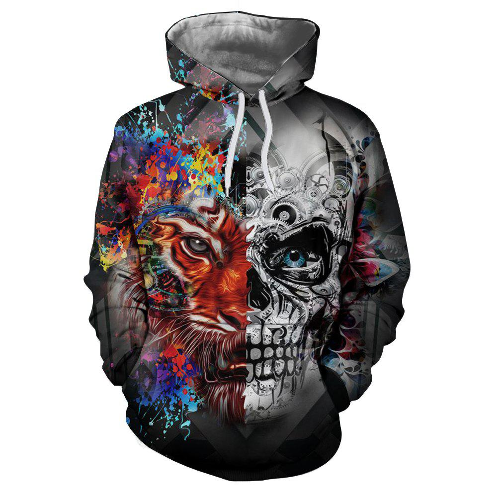 Shop New Fashion Skull 3D Printing Men's Hoodie