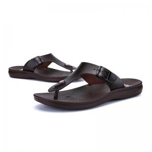 Summer Comfortable Ventilated Leather Slippers for Men -