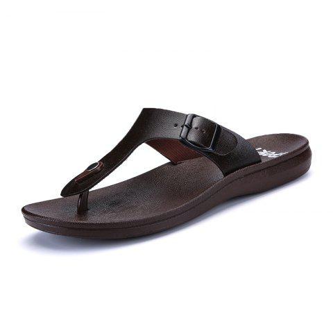 Online Summer Comfortable Ventilated Leather Slippers for Men
