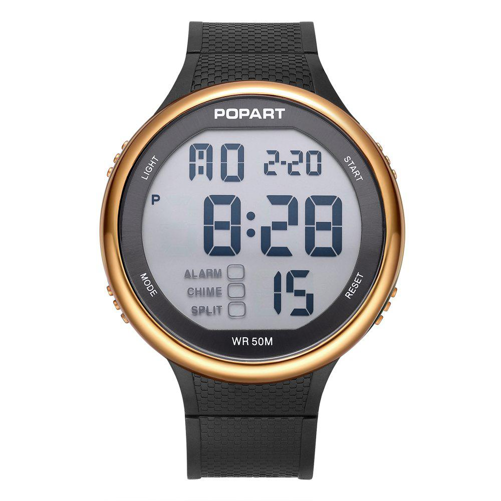Fashion POPART POP-936 Unisex Digital Watch with 50 Meter Waterproof