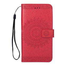 Embossed Wallet Flip PU Leather Card Holder Stand Case for Samsung Galaxy S9 Plus -