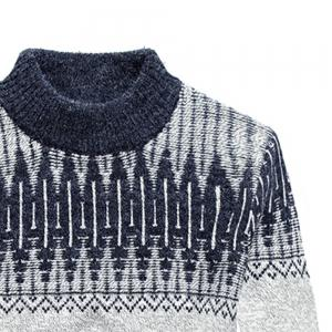 New Men Warm Casual High Collar Pullover Youth Sweater -
