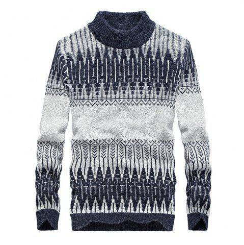 Outfits New Men Warm Casual High Collar Pullover Youth Sweater
