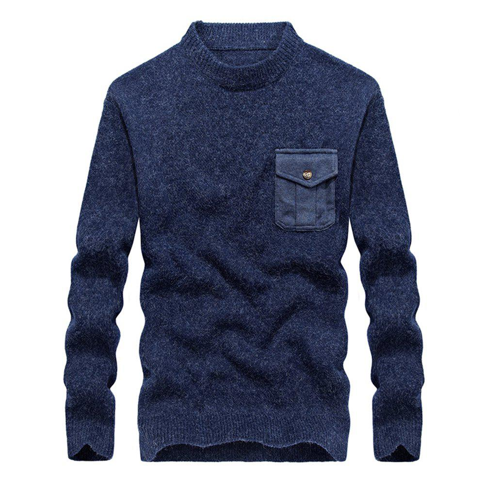Online Fashion New Men Pullovers Youth Knit Sweaters