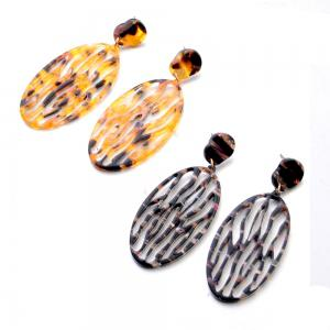 Fashion New Acrylic Oval Hollow Thin Face Earrings Simple Personalized Accessories -
